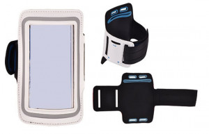 Pouzdro na ruku TopQ velikost iPhone 5 / Samsung S4 Mini bílé (sportovní obal na ruku iPho