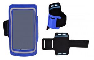 Pouzdro na ruku TopQ velikost iPhone 5 / Samsung S4 Mini modré (sportovní obal na ruku iPh