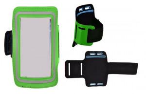 Pouzdro na ruku TopQ velikost iPhone 5 / Samsung S4 Mini zelené (sportovní obal na ruku iP