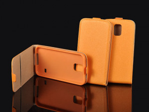Pouzdro Forcell Slim Flip flexi Samsung Galaxy J5 J500 Oranžové