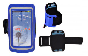 Puzdro  na ruku Samsung Galaxy S3/S4 i9300/i9500 Tmavě modré