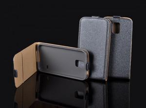 Pouzdro ForCell Slim Flip Flexi Huawei Ascend P8 Lite Grafitové
