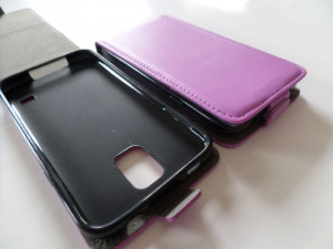 Pouzdro ForCell Slim flip flexi Samsung G7105 Galaxy Grand 2 Světle fialové