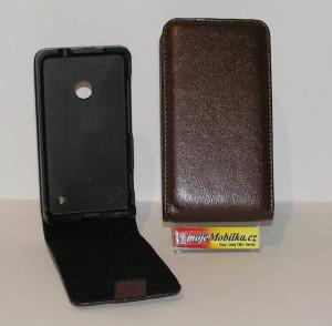 Pouzdro FLIP Nokia Lumia 625 Hnědé