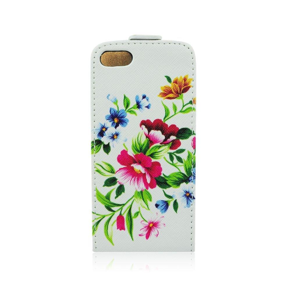 Pouzdro Slim Flip Sony Xperia Z1 Compact/Mini D5503 Červené květiny