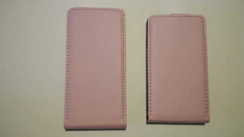 Pouzdro ForCell Slim Flip Samsung G900 G903 Galaxy S5 Růžové