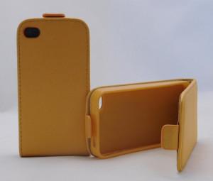 Pouzdro Forcell Slim Flip flexi Iphone 4S Oranžové
