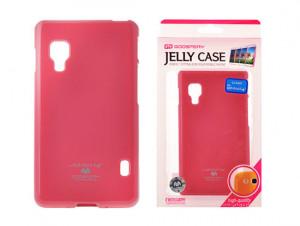 Pouzdro Goospery Mercury Jelly LG L7 II/P710 růžové