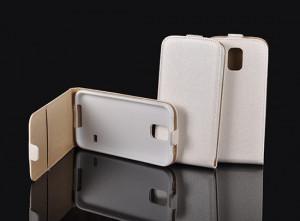 Pouzdro Forcell Slim Flip Flexi Samsung Galaxy Alpha G850 Bílé