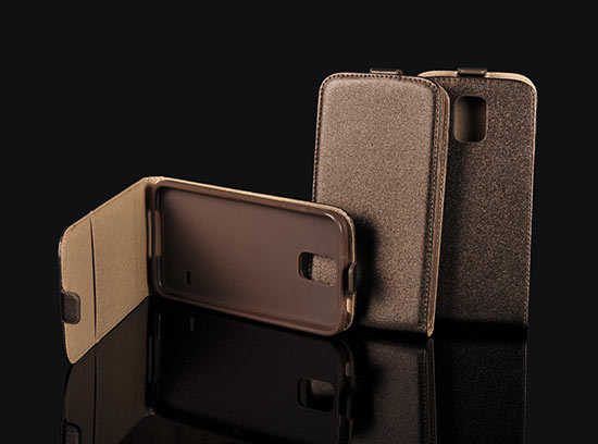 Pouzdro Forcell Slim Flip Flexi Samsung S7560/S7562 Galaxy Trend a S Duos Hnědé