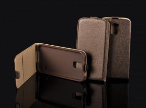 Pouzdro ForCell Slim Flip Flexi Sony Xperia M2 D2303 Hnědé
