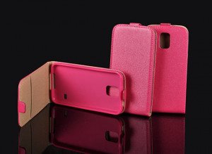 Pouzdro ForCell Slim Flip Flexi Samsung Galaxy J5 J500 Růžové