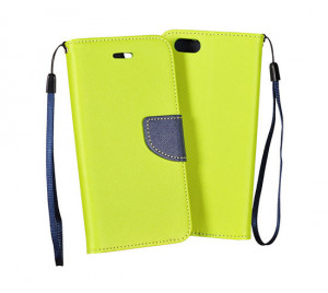Pouzdro TEL1 Fancy Diary Samsung Galaxy S4 i9505 Lemon