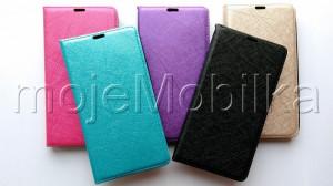 Pouzdro Wallet Velvet Microsoft Lumia 535 Fialové