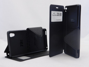 Pouzdro View Fancy Flip Diary pro Sony Xperia M4 Aqua E2303 - černé