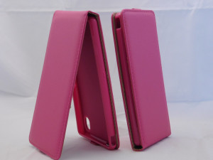 Pouzdro ForCell Slim Flip Flexi Sony Xperia M4 Aqua E2303 růžové