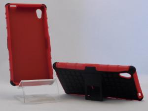Pouzdro Amzer Hybrid Warrior Case Sony Xperia M4 E2303 Červené
