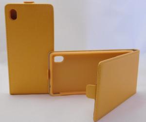 Pouzdro Forcell Slim Flip 2 Flexi D2303 Sony Xperia M4 Aqua E2303 Oranžové