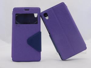 Pouzdro View Fancy Flip Diary pro Sony Xperia M4 Aqua E2303 - modro/fialové
