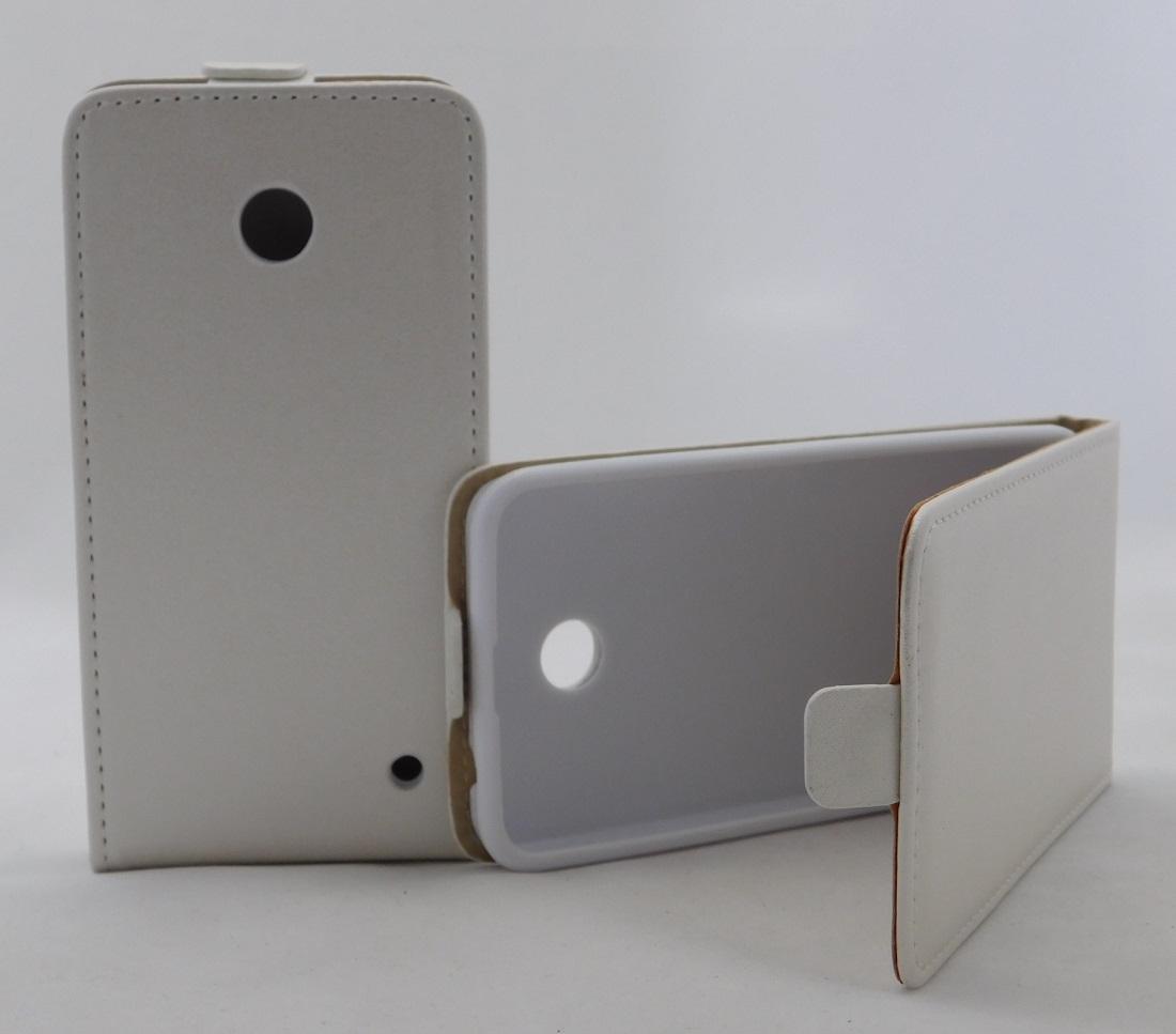 Pouzdro Forcell Slim Flip Flexi Nokia Lumia 630 635 Bílé