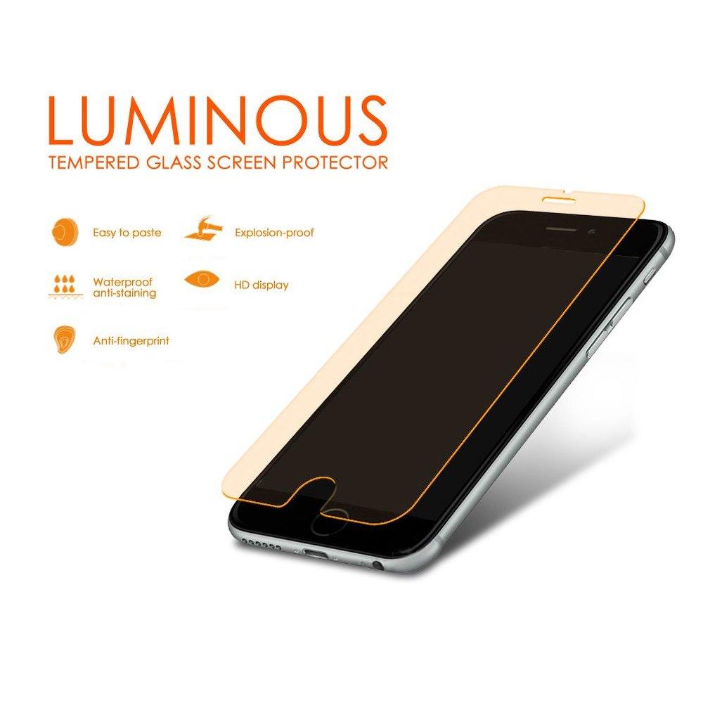 Ochranné tvrzené sklo Blue star Luminous pre Iphone 6 4,7 Oranžové