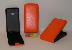 Pouzdro FLIP Nokia Lumia 520 Oranžové