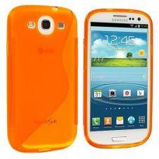 Silikonové pouzdro S-Line Case pro Sony Xperia M2 D2303 Oranžové