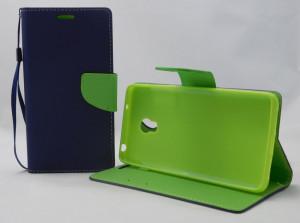 Pouzdro Fancy Diary Book pro Lenovo VIBE P1 modro/limetková (BULK)