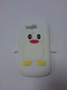 Silikonové pouzdro Pinguin Case pro LG E610 Optimus L5 bílé