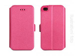 Pouzdro Book Flexi Pocket Huawei Honor 4X Růžové
