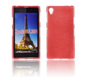 Puzdro JELLY CASE Plum Samsung G900 Galaxy S5 Červené