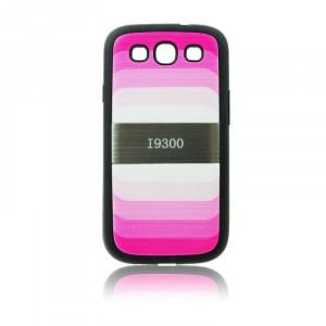 Pouzdro Blun Rainbow Samsung Galaxy SIII i9300/i9301 Růžové