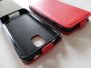 Pouzdro Forcell Slim Flip Flexi Huawei Ascend P8 Červené
