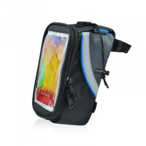 Roswheel brašna na mobilní telefon na rám, vel.M modrý pruh 12496L