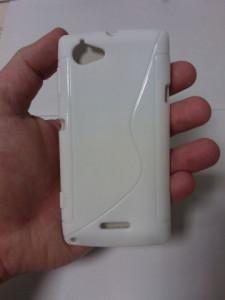 Pouzdro S-Line Case pro Nokia 206 Asha bílé silikonové pouzdro