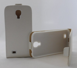 Pouzdro Forcell Slim Flip Flexi Samsung I9505 Galaxy S4 Bílé