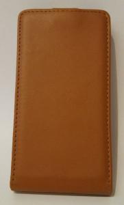 Pouzdro Sligo Slim pro Sony Xperia E C1505/1605 světle hnědé