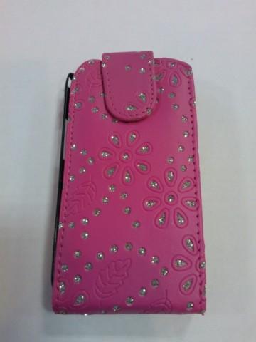 Pouzdro Sligo Cyrkonia pro Samsung i8260/i8262 Galaxy Core DS růžové