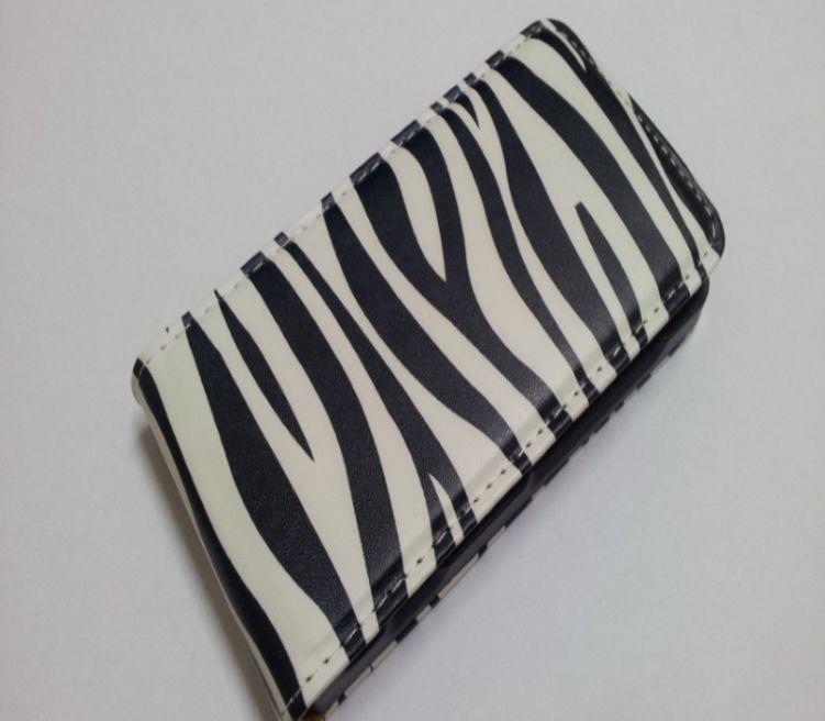 Pouzdro Slim Flip Case 2 Samsung G900 G903 Galaxy S5 Zebra
