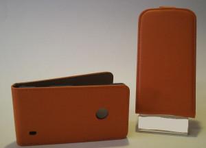 Pouzdro Slim Flip Case 2 LG L65 / L70 Oranžové