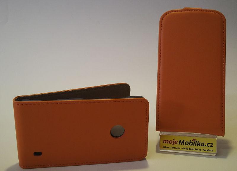 Pouzdro Slim Flip Case 2 Samsung G350/G3500 Galaxy Core Plus oranžové