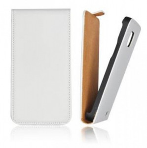Pouzdro ForCell Slim flip HTC Desire 300 bílé