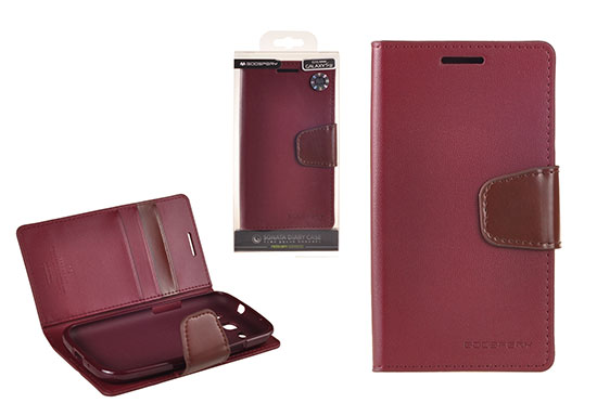 Pouzdro Sonata Goospery Leather Flip Samsung I9300/i9301 Galaxy S3 Bordo