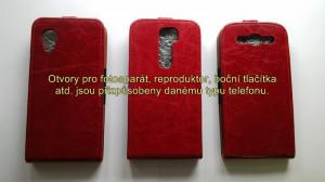 Pouzdro Toscana Elegance pro Nokia Lumia 625 Red