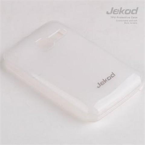 JEKOD TPU Ochranné Pouzdro White pro Alcatel T´Pop 4010D