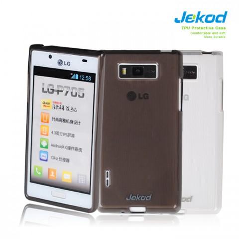 JEKOD TPU Ochranné Pouzdro White pro LG P700 Optimus L7