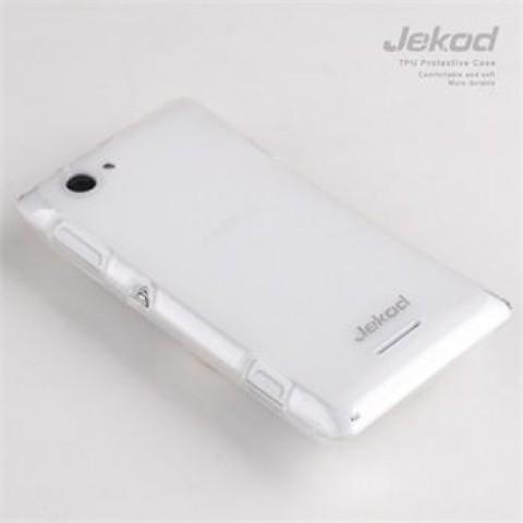 JEKOD TPU Ochranné Pouzdro White pro Sony Xperia Z1 C6903