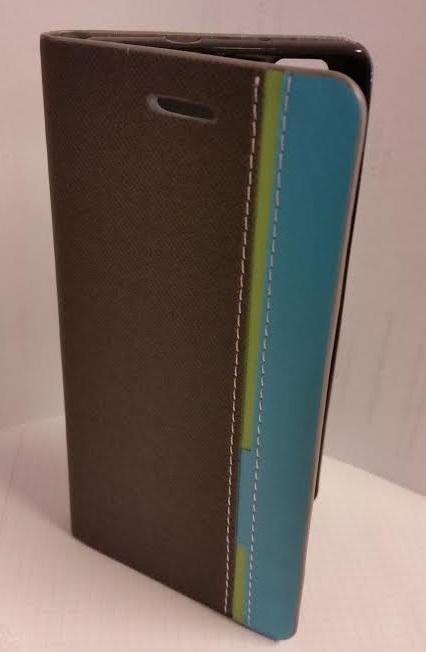 Pouzdro Wallet Mute Huawei P8 Lite Stříbrné