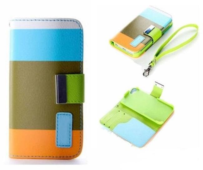 Pouzdro Wallet 3 Colors Samsung G900 G903 Galaxy S5 Modré