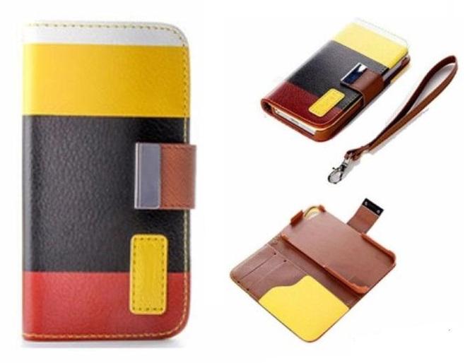 Pouzdro Wallet 3 Colors  iPhone 5 iphone 5s Žluté